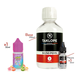 Pack DIY Super Lequin 230ml 50/50 3mg - Kyandi Shop