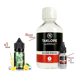 Pack DIY Ice Lemonade 230ml 50/50 3mg - Vapempire