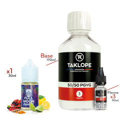 Pack DIY Rainbow 230ml 50/50 3mg - Full Moon
