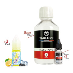 Pack DIY Citron Cassis 230ml 50/50 3mg - Fruizee