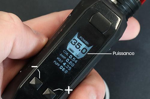 régler la puissance de sa cigarette électronique
