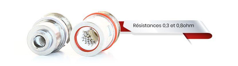 2 types de résistances compatibles avec le vinci pod