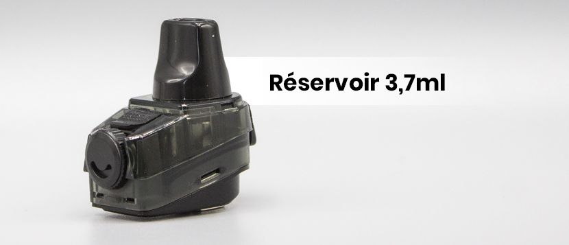 L'aegis boost dispose d'un réservoir de 3,7ml
